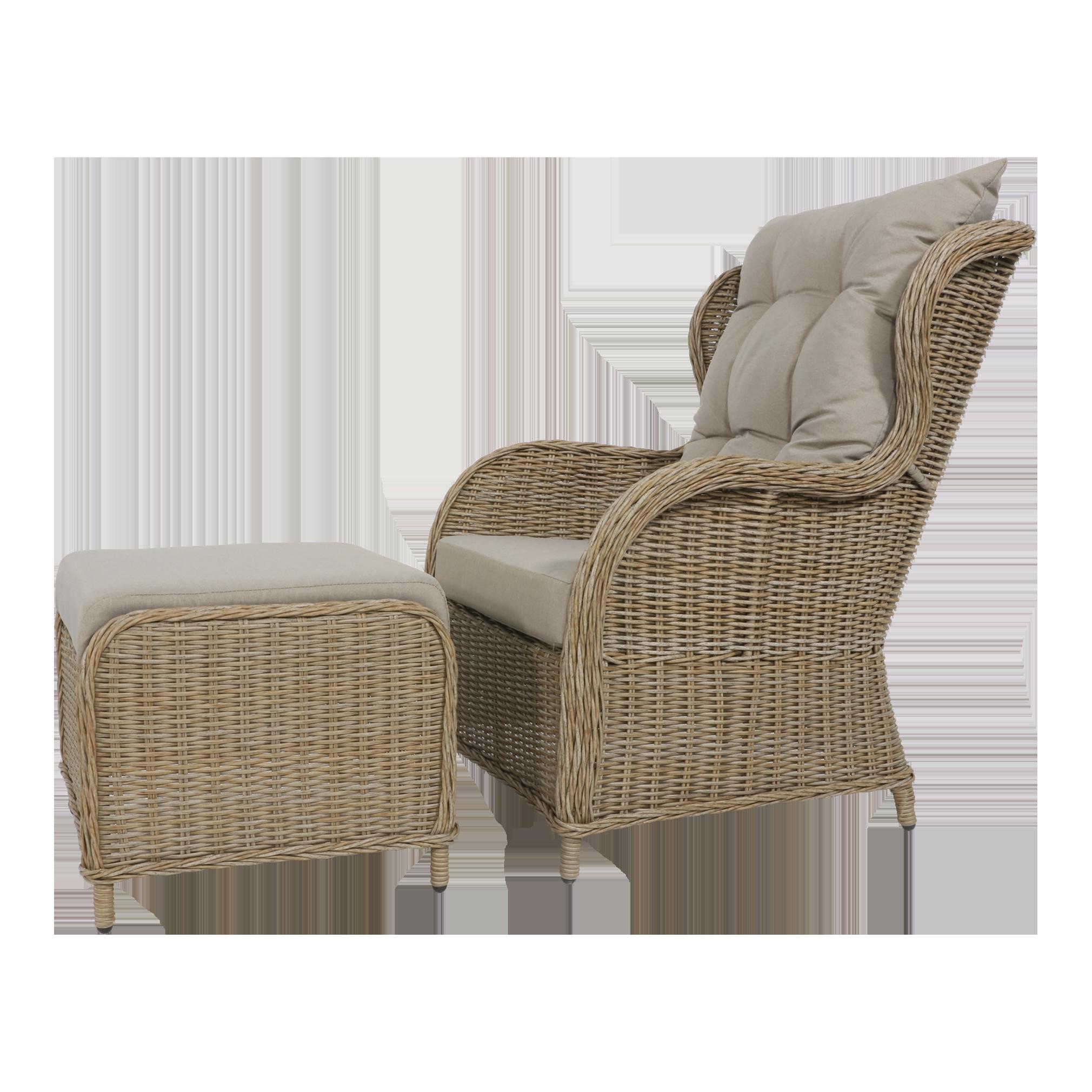 Gartenmöbel Set Bonaire 2 Sessel 1 Tisch 2 Fußbänke taupe | eBay