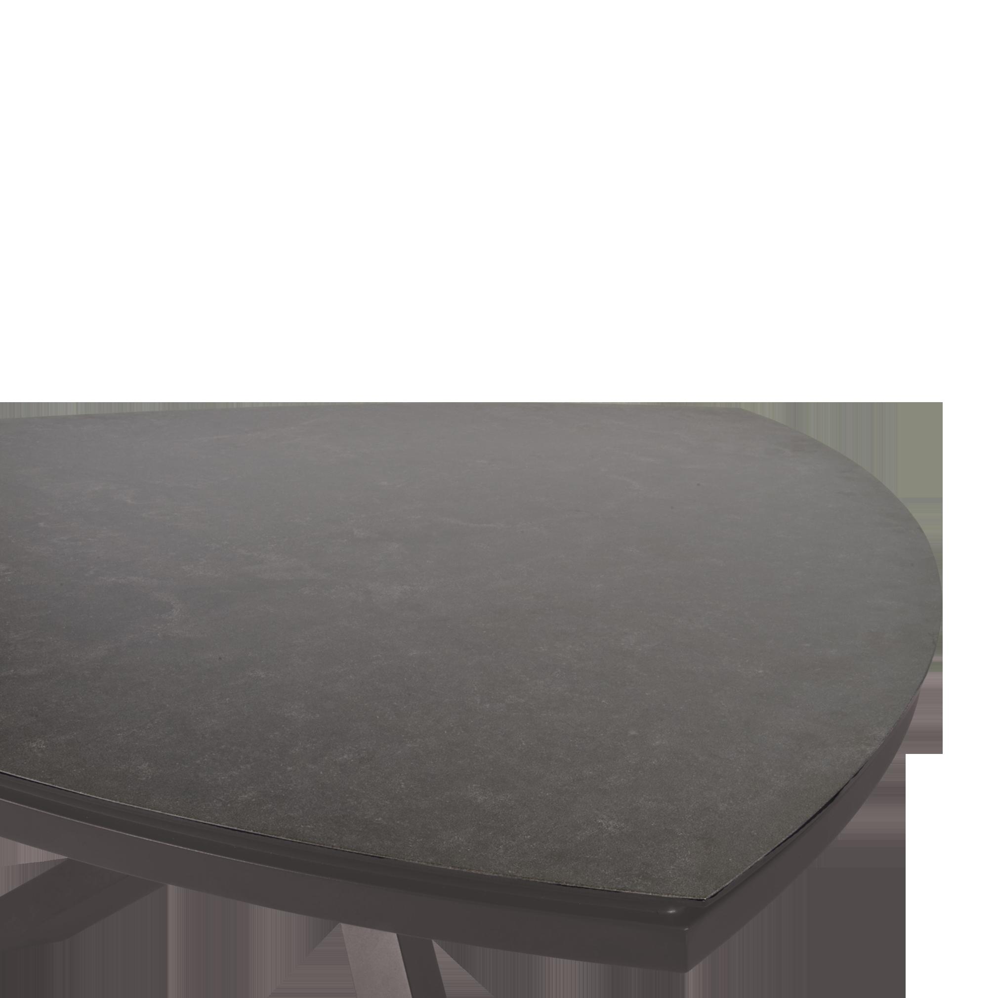 Details zu Gartentisch Tisch Mojito Ceramic Pardo dreieckig Keramik Aluminium 170x170cm
